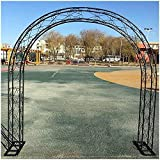 CDFCB Hierro Arco Flor Puerta Nuevo Boda Precios Disposición 300 Grados Horneado Pintura Proceso Resistencia a la Corrosión y Prevención de óxido 1 5 * 2 3M Jardín Exterior D
