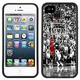 Michael Jordan en el disparo   Hecho a mano   iPhone 5/5S   Funda negra