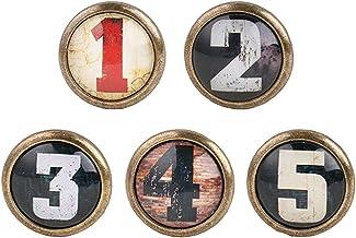 Sharplace 5pcs Vintage Bouton de Porte Cabinet Knob Tiroir Tirer Poignée Meubles Cuisine Décor