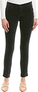 J Brand Zion Mid-Rise Super Skinny in Green Moorland Velveteen Jeans Size 24