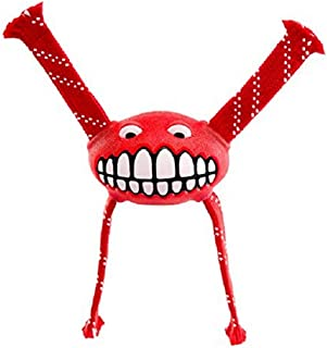 Rogz Flossy Grinz Dog Toy, Red Small