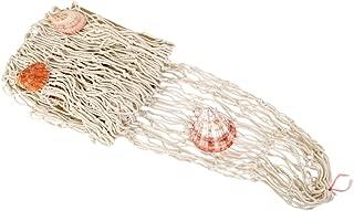Decorativa Red De Pesca Náutica Con Conchas Luau Pared Medianera De Color Beige Decoración