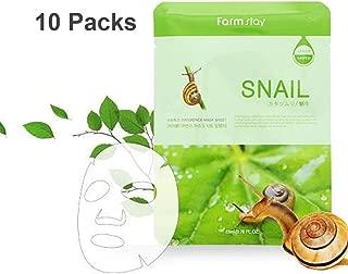 Farm Stay Korean Deep Moisturizing Rich Snail Mucin Visible Face Facial Daily Mask Sheet [ 10 Packs ] 23ml/0.78 fl.oz