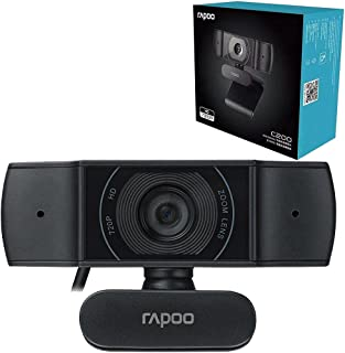 Rapoo C200 720p HD USB - 360 Degree Horizontal - 100 Degree Super Wide-Angle Webcam with Microphone for Live Broadcast Vid...