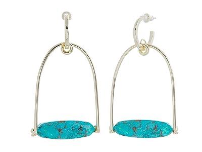 Kendra Scott Sassy Statement Earrings (Gold Bronze Veined Teal Magnesite) Earring