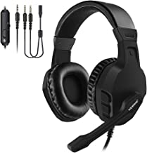 NUBWO Gaming Headset, Xbox One PS4 Headset, Noise Cancelling Over Ear Gaming Headphone Mic, Comfort Earmuffs, Lightweight, Easy Volume Control for Xbox 1 S/X Playstation 4 Computer Laptop(Black)