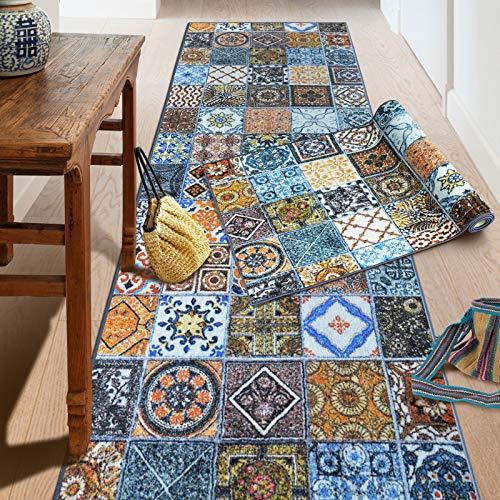 Teppich-Läufer auf Maß Bonita | Moderner Wohnteppich für Flur, Küche, Schlafzimmer | Meterware, viele Größen | rutschfest, robust & pflegeleicht (80 x 200 cm)