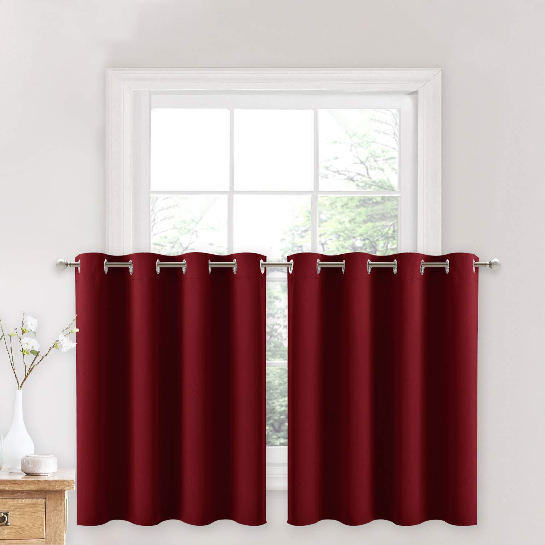 NICETOWN Bedroom Window Curtain Tiers
