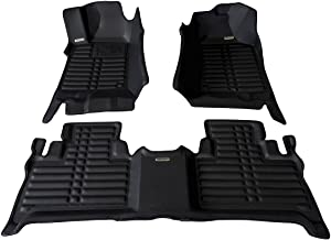 TuxMat Custom Car Floor Mats for Hummer H3 2005-2010 Models - Laser Measured, Largest Coverage, Waterproof, All Weather. The Best Hummer H3 Accessory. (Full Set - Black)
