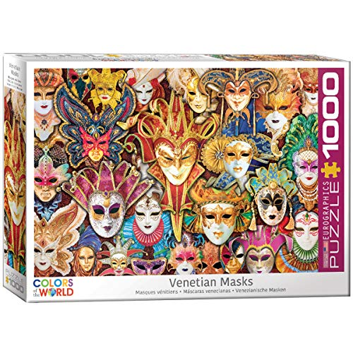 EuroGraphics Venetian Mask 1000-Piece Puzzle Now $10.57 (Was $18.28)