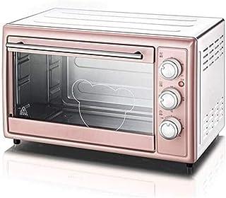 Mini Horno 1600w 30L for cocinar de múltiples Funciones encimera Horno eléctrico con la Parrilla Bandeja de residuos Bandeja for Hornear Neto y sostenedor de la Bandeja, Rosa