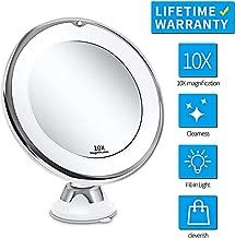CattleBie Vanity Lights,Cheap Vanity Lights,Portable 10X Magnifying Makeup Mirror Light LED Light Women Man Dressing Table Vanity Mirror Bathroom Bedroom Make Up Lamp