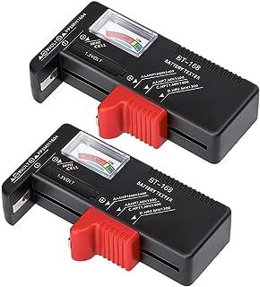 2 Pack Batterij Tester Universele Batterij Tester Monitor voor AA AAA C D 9 V 1.5 V Knop Celbatterijen Levensduur Niveau T...
