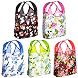 O-WITZ reusable shopping bags, ripstop, folds into pouch, vintage vibe 5 pack