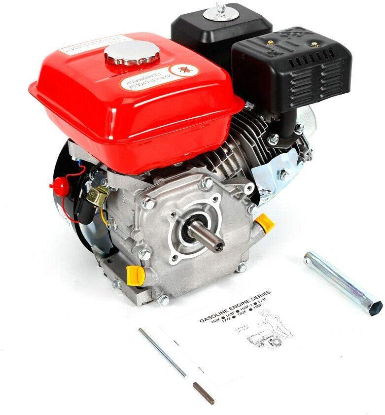 Motor de gasolina de 4 tiempos, 7,5 CV, 5100 W, cigüeñal, bomba de agua de gasolina, motor de kart, motor de un solo cilindro, para bomba de transferencia de agua, desbrozadora Gokart
