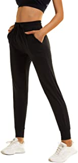 TNNZEET Sweatpants for Women with Pockets – Womens High Waisted Black Yoga Lounge Joggers Workout Pants