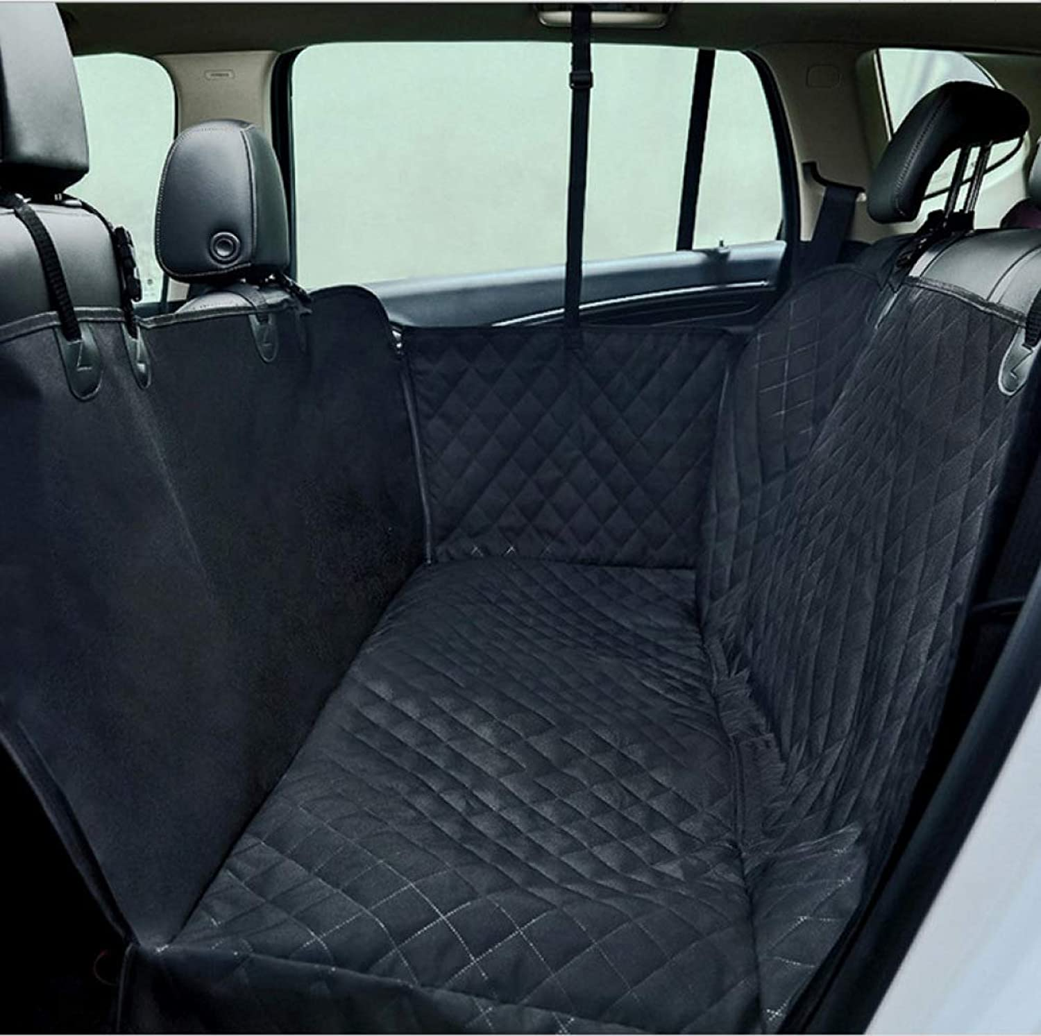 FJTHY Car Pet Mat Thick Reinforcement Car Pet Mat with Zipper Comfortable and Convenient Keep the Car Clean and Tidy,Black,One Size