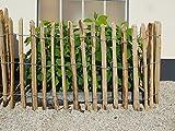 STILTREU Staketenzäune Staketenzaun Kastanie Höhen 50 cm - 200 cm, 5 Meter Rolle, 3 versch. Lattenabstände (Länge x Höhe: 500 x 75 cm, Lattenabstand: 4-6 cm)