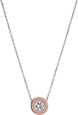 Michael Kors - Cubic Zirconium Logo Necklace