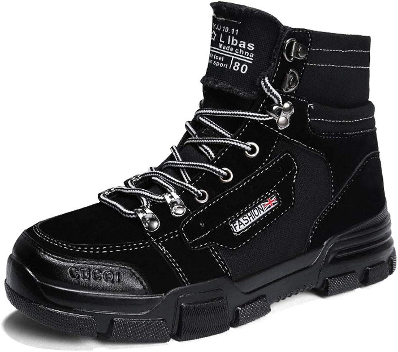 tienda de pescado para la venta YAN Zapatos De Hombre De Gamuza Martin botas 2018 Moda Moda Moda De Encaje hasta Zapatos De Cubierta De Alta Top Casual Zapatos Casual Diario Caminar Zapatos Negro Beige blancoo  tienda