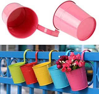 Yaheetech 10 Colors Iron Flower Plant Pots with Hanging Planters