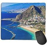 Alfombrilla para ratón, Alfombrilla de ratón Antideslizante con Base de Goma Impermeable para computadora portátil, San Andrés Tenerife Hermoso Turismo