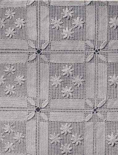 Vintage Crochet PATTERN to make - Block Overseas parallel import regular item MOTIF Appli Ranking TOP11 in Bedspread