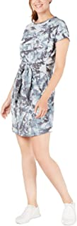 Ideology Womens Tie-Dye Tie Front Dress