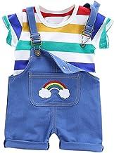 ARAUS Beb/é Pantalones de Petos Pichi Dibujos Animados Pantalones Cortos Ni/ños Ni/ñas Verano