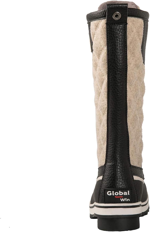 GLOBALWIN Women's Mid Calf Winter Snow Boots