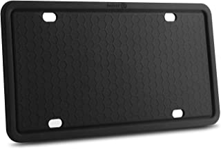 Indeed BUY License Plate Frames-Silicone Licenses Plate Covers Rust-Proof. Rattle-Proof. Weather-Proof.Shockproof for Automotive License Plate Frame - Black (Black-1 Pack)