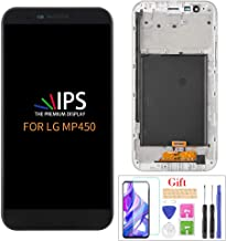Compatible with LG Stylo 3 Plus MP450 LCD Display Screen Replacement,for LG Stylo 3 Plus MP450 TP450 M470F M470 Display LCD Panel Repair Parts Kit,with Tempered Glass+Tools+ Black with Frame