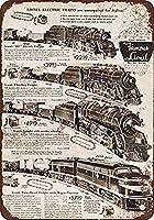 1952年ライオネル電車おかしいノベルティギフト壁の装飾バー錫金属サインポスター20x30cm