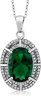 Best emerald solitaire pendant Reviews