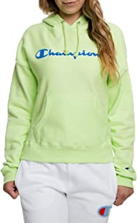 Champion Life Women's Reverse Weave Pullover Chenille Script Hoodie