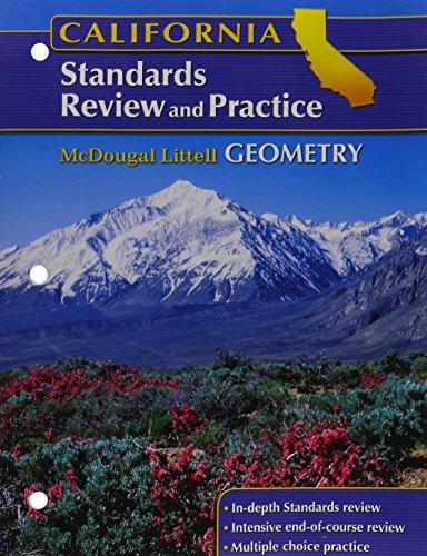 Geometry, Grades 9-12 Standards Review and Practice: McDougal Littell High School Math California (Holt McDougal Larson