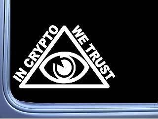 in Crypto We Trust Pyramid L755 6 inch Sticker Bitcoin Illuminati Decal
