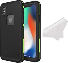 Lifeproof FRĒ Series Waterproof Case for iPhone X (ONLY) with Cleaning Cloth - Bulk Packaging - Night LITE (Black/Lime)
