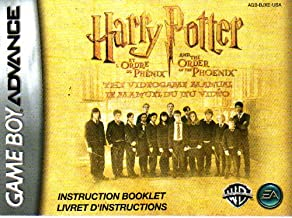 Harry Potter & The Order of the Phoenix GBA Instruction Booklet (Nintendo Gameboy Advance Manual ONLY - NO GAME) Pamphlet ...