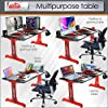 Iceberg Gaming Desk, Working Desk, Study Table, Laptop Table & PC Table -ODYSSY RED Base #3