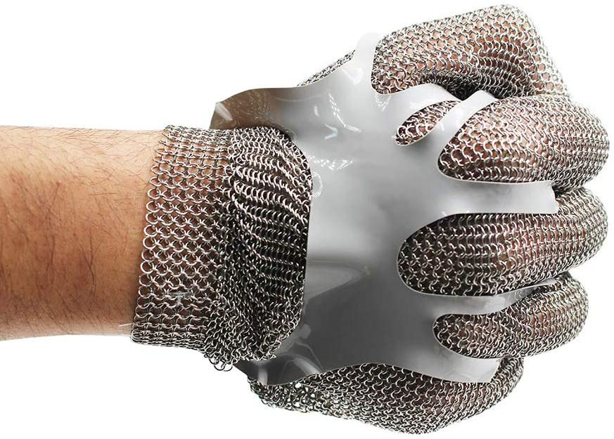 Chainmail Cut Resistant Stainless Steel Glove Foo Mesh for Department Quantity limited store Metal