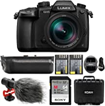 $1999 » Panasonic LUMIX GH5 4K Mirrorless Camera with Leica DG 12-60mm Lens Bundle with 64GB SD Card, Koah Vertical Battery Grip, Shotgun Mic, Waterproof Hardcase, and Battery and Dual Charger (6 Items)