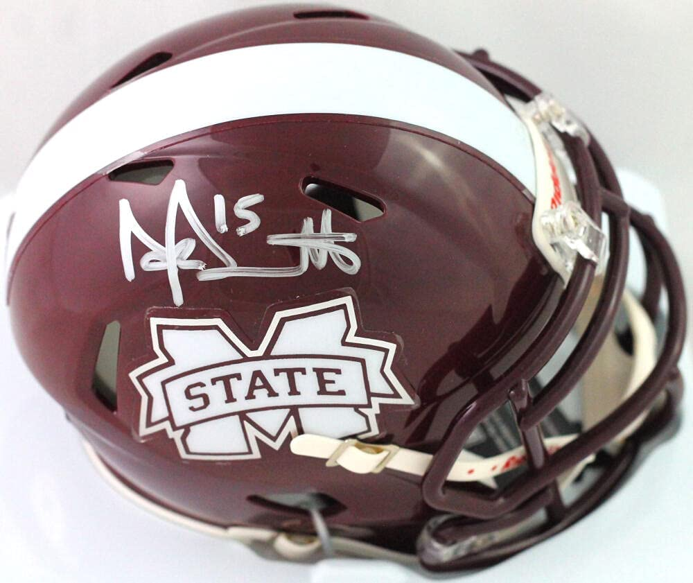 Dak Prescott Autographed Mississippi State Speed Mask M Fees free!! Free Shipping New Maroon