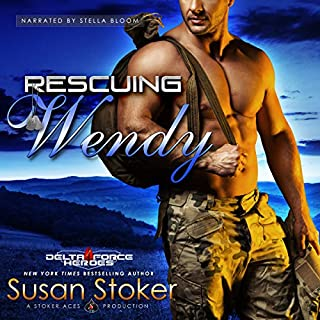 Rescuing Wendy     Delta Force Heroes, Book 8              Written by:                                                                                                                                 Susan Stoker                               Narrated by:                                                                                                                                 Stella Bloom                      Length: 8 hrs and 17 mins     5 ratings     Overall 4.6