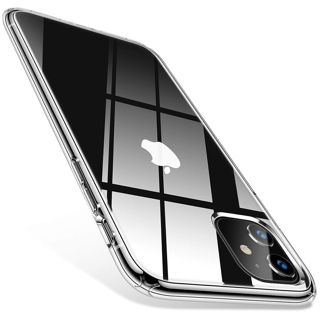 破壊ミシン想定TORRAS iPhone 11 ケース 6.1インチ 対応 全透明 ハイブリッドケース 二重構造 黄ばみなし 米軍MIL規格 耐衝撃 擦り傷防止 SGS認証 薄型 アイフォン11用カバー(クリスタル?クリア)