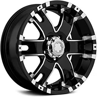 Ultra Wheel 202B Baron Matte Black Wheel with Painted (18 x 9. inches /6 x 135 mm, 25 mm Offset)