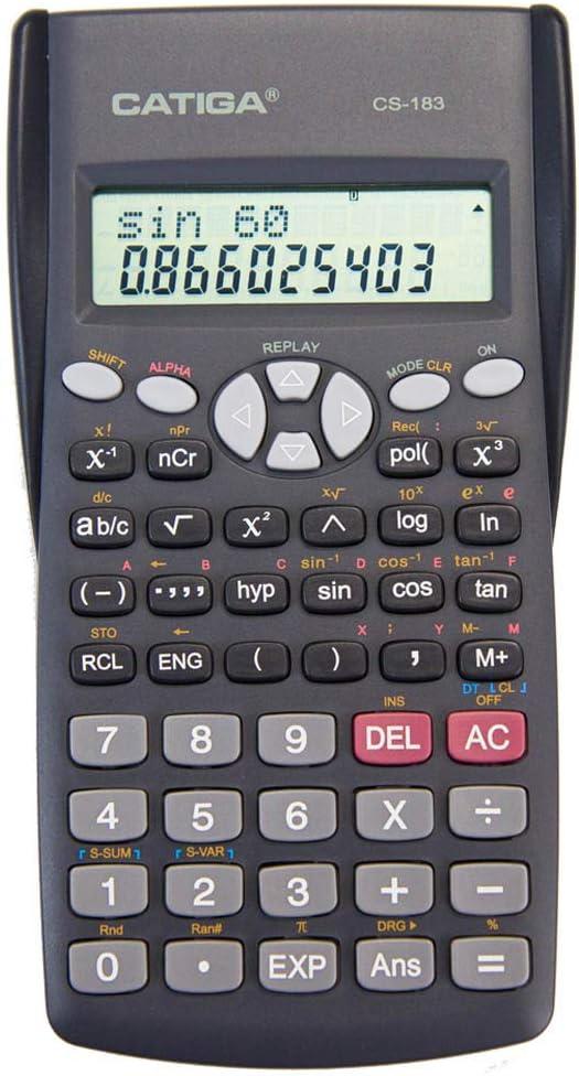 CATIGA CS-183 2-Line Max 57% OFF Complete Free Shipping LCD Display Scientific Suitabl Calculator -