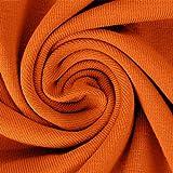 Schickliesel Jersey Stoff Meterware Uni (orange)