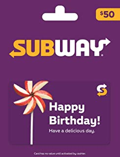 subway birthday gift