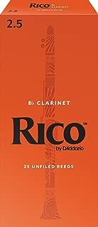 D'Addario Woodwinds Bb Clarinet Reeds, Strength 2.5, 25-pack (RCA2525)